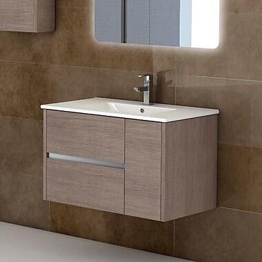 Eviva Aries 32'' Single Bathroom Vanity Set; Medium Oak