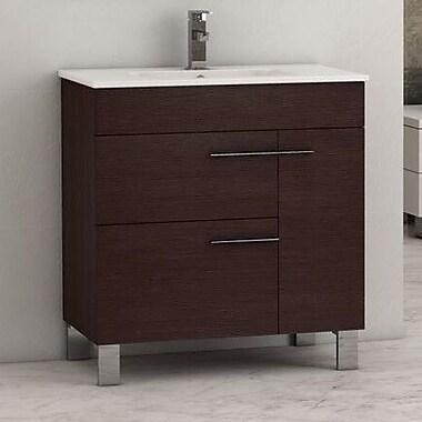 Eviva Cup 31.5'' Single Bathroom Vanity Set; Wenge