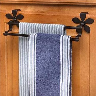 Spectrum Diversified Flower Double 10.5'' Over-the-Door Towel Bar