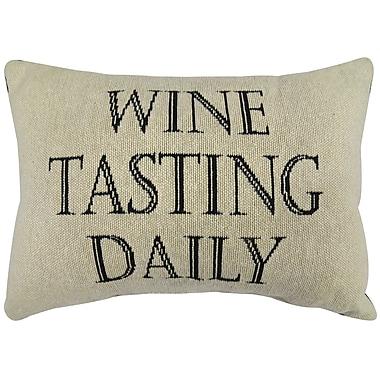 Park B Smith Ltd Wine Tasting Tapestry Decorative Throw Pillow; 12''x18''
