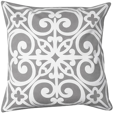Park B Smith Ltd East Gate Printed Decorative Cotton Throw Pillow; Gray