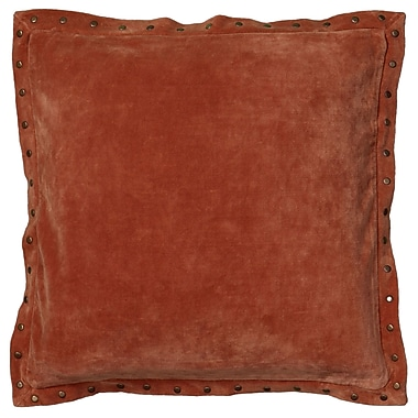 Wildon Home Dahlina Pillow Cover; Orange