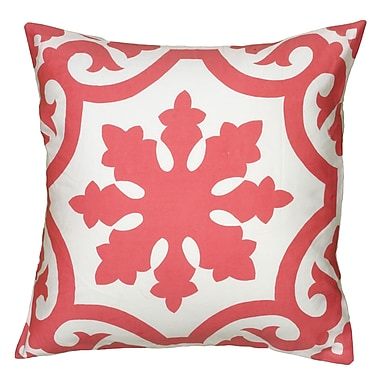 Wildon Home Dahlya Pillow Cover; Coral
