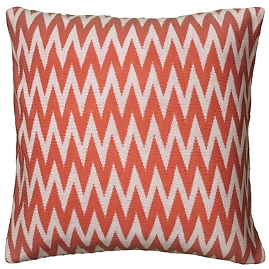 Wildon Home Dahlye Pillow Cover; Coral