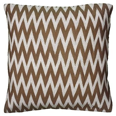 Wildon Home Dahlye Pillow Cover; Brown