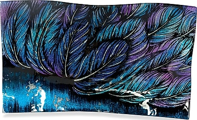 Angelstar Angel Feathers Rectangle Plate; 8'' H x 13'' W x 1'' D