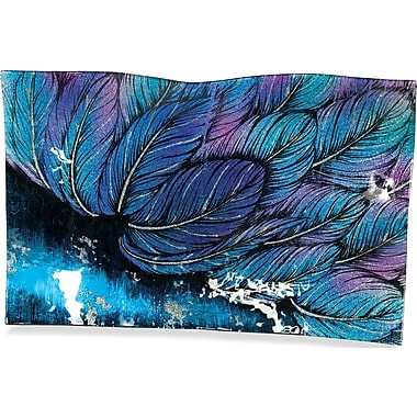 Angelstar Angel Feathers Rectangle Plate; 11'' H x 17'' W x 1.75'' D