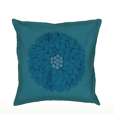 Wildon Home Dakote Pillow Cover; Turquoise