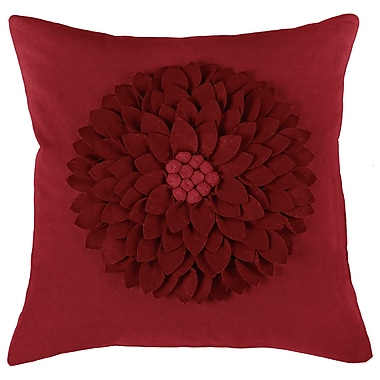 Wildon Home Dakote Pillow Cover; Red