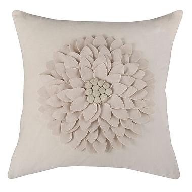 Wildon Home Dakote Pillow Cover; Ivory