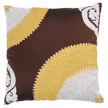 Wildon Home Throw Pillow; Brown