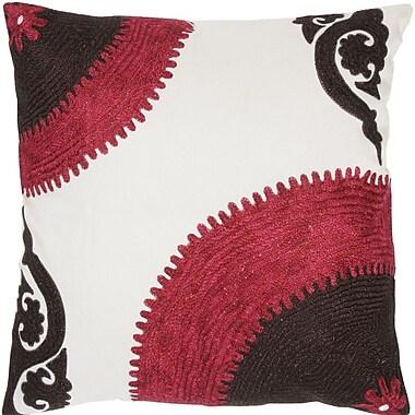 Wildon Home Throw Pillow; Purple / Black