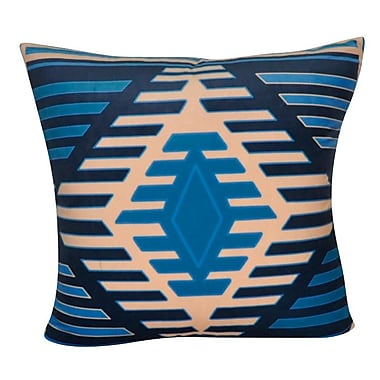 Loom and Mill Aztec Decorative Throw Pillow; Dark Blue