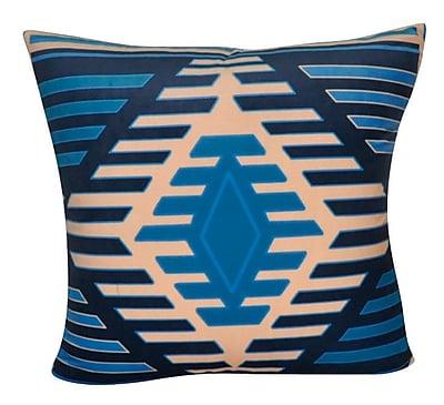 Loom and Mill Aztec Decorative Throw Pillow; Dark Blue