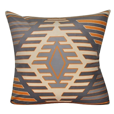Loom and Mill Aztec Decorative Throw Pillow; Gray