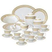 Imperial Gift Co. Greek Key 49 Piece Dinnerware Set, Service for 8