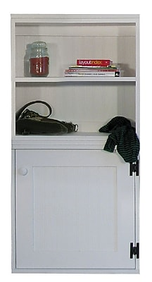 SawdustCity Modular Cabinet w/ Door Accent Cabinet; Cream
