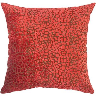 The Pillow Collection Alexandria Rose Velvet Throw Pillow; 18'' X 18''