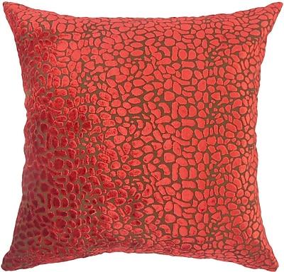 The Pillow Collection Alexandria Rose Velvet Throw Pillow; 20'' X 20''