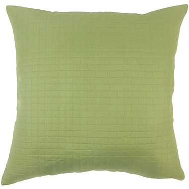 The Pillow Collection Spruce Solid Throw Pillow; 18'' X 18''