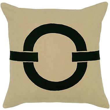 Wildon Home Charitie Cotton Pillow Cover; Beige