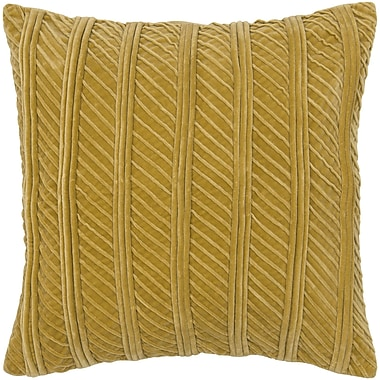 Wildon Home Charitye Cotton Pillow Cover; Gold