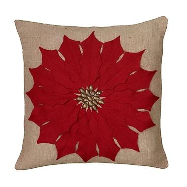 Wildon Home Cyntra Pillow; Red
