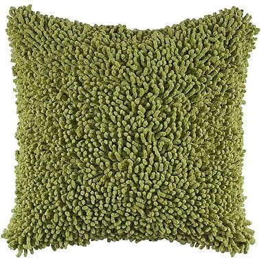 Wildon Home Daysha Shag 100pct Cotton Throw Pillow; Citrus Green