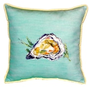 Betsy Drake Interiors Oyster Indoor/Outdoor Euro Pillow; Green