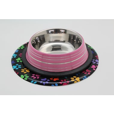 Andreas Silicone Trivets Color Paws Trivet; 0.25'' H x 7.625'' W x 7.625'' D