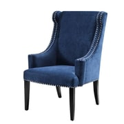 Madison Park Marcel High Back Wing Arm Chair; Blue