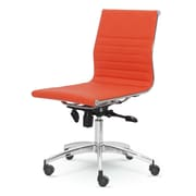Winport Industries Dynamic Mid-Back Desk Chair; Orange