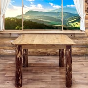 Montana Woodworks  Glacier Country 4 Post Square Dining Table; 30'' H x 45'' W x 45'' D