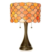 Warehouse of Tiffany Tiffany Style Modern 22'' Table Lamp; Orange