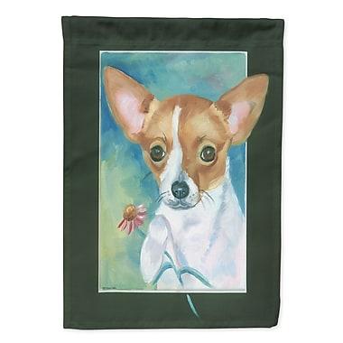 Caroline's Treasures Chihuahua and Daisy 2-Sided Garden Flag