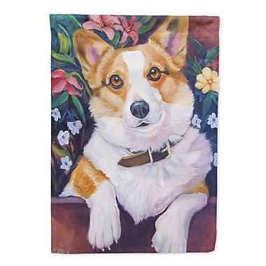 Caroline's Treasures Can I Help you Corgi 2-Sided Garden Flag