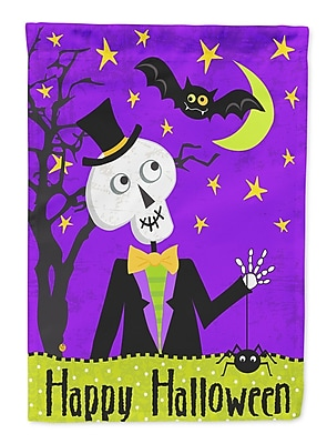 Caroline's Treasures Happy Halloween Skeleton 2-Sided Garden Flag