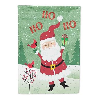 Caroline's Treasures Merry Christmas Santa Claus Ho Ho Ho 2-Sided Garden Flag