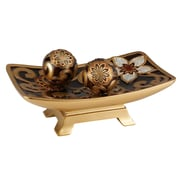 OK Lighting Azalea Decorative Bowl w/ Spheres