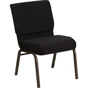 Ebern Designs Taylor Stacking Church Chair; Black Dot