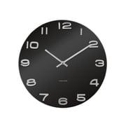 Present Time Vintage 14'' Black Glass Wall Clock