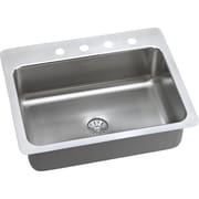 Elkay Gourmet 27'' x 22'' Stainless Steel Single Bowl Dual Mount Kitchen Sink; 3