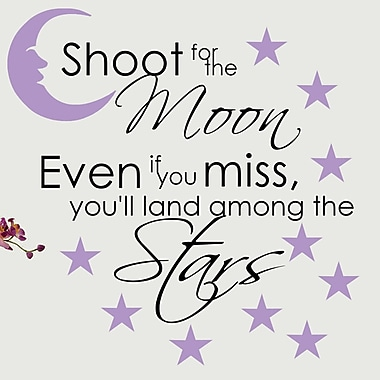 DecaltheWalls Shoot for the Moon Vinyl Wall Decal; Lilac