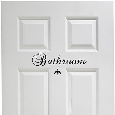 DecaltheWalls Bathroom Door Decal