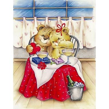 Caroline's Treasures Teddy Bears in Love Valentine's Day 2-Sided Garden Flag