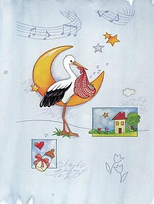 Caroline's Treasures Expecting Stork Bringing Baby 2-Sided Garden Flag