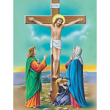 Caroline's Treasures Jesus on the Cross Crucifixion 2-Sided Garden Flag