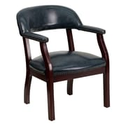 Offex Low-Back Desk Chair; Navy Vinyl