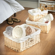 VonHaus 3 Piece Wicker Basket Set