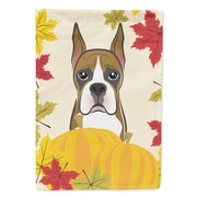 Caroline's Treasures Boxer Thanksgiving 2-Sided Garden Flag
